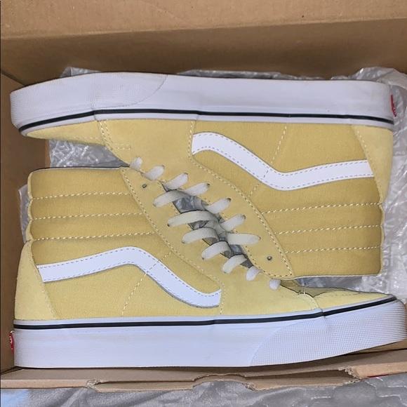 Vans Shoes | Yellow High Top Vans